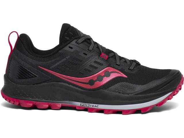 saucony Peregrine 10 Chaussures Femme, black/barberry